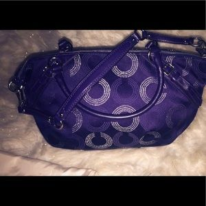 Coach Bags - COACH Madison Dotted Op Art LARGE Sophia Satchel